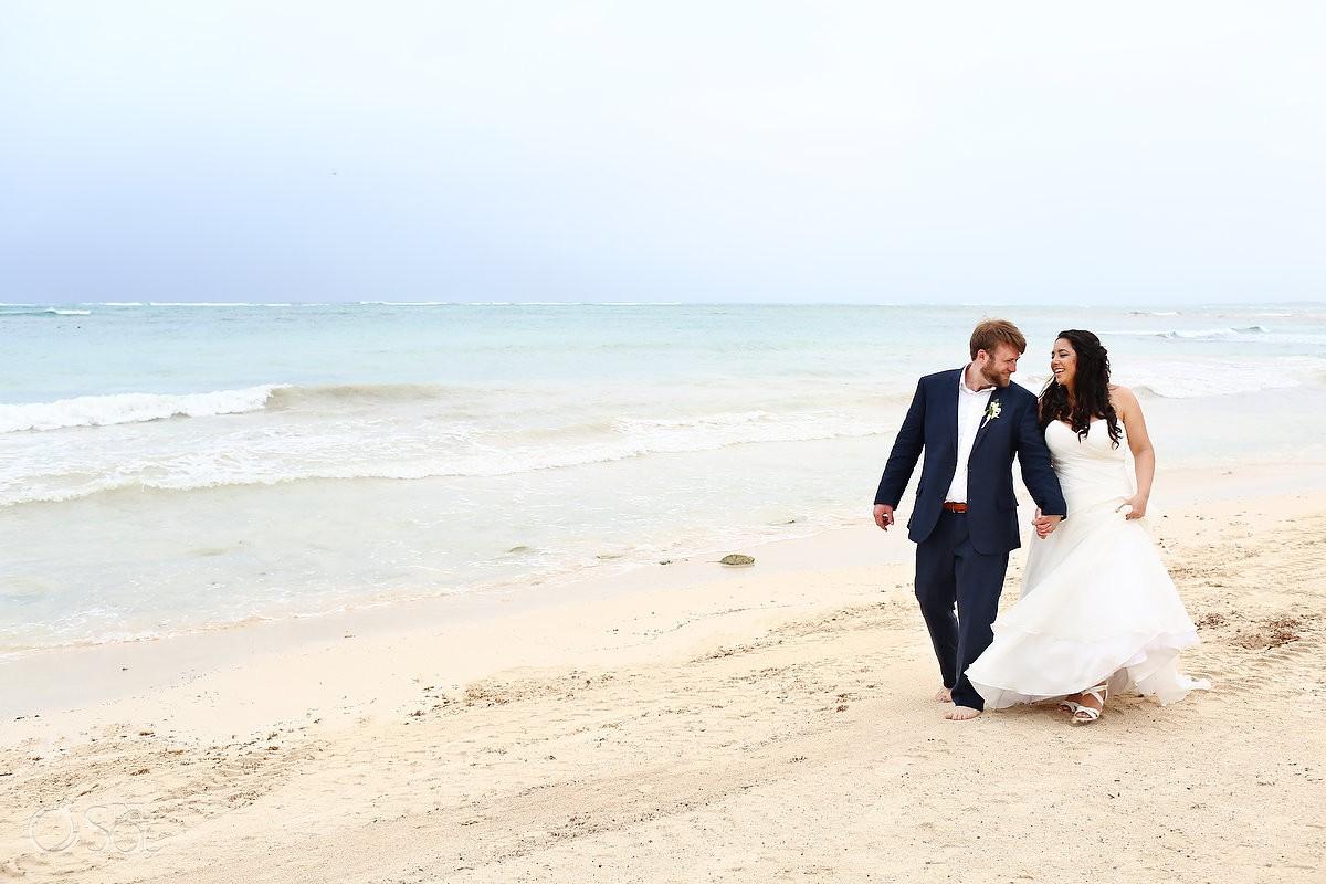 Dreams Tulum Beach Wedding bride and groom photos