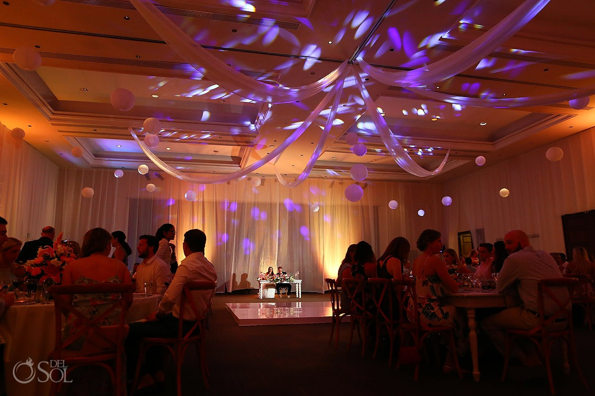 Dreams Tulum Beach Wedding reception photography