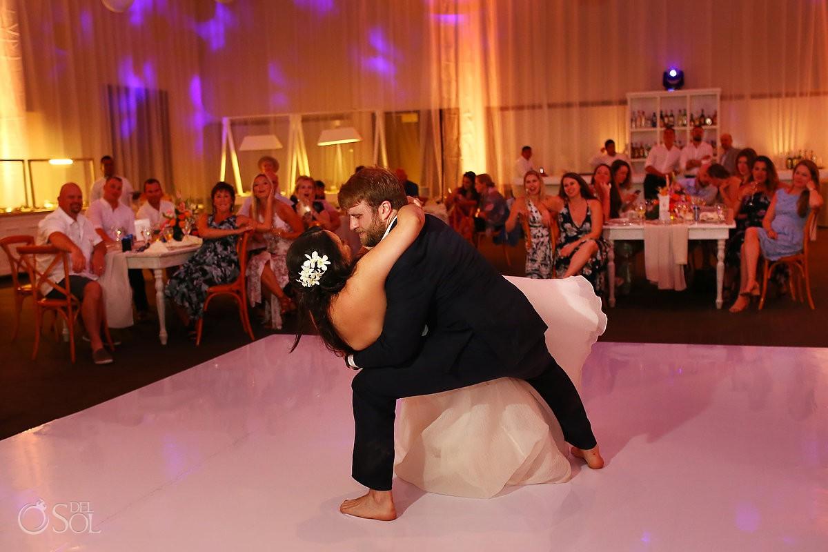 Dreams Tulum Beach Wedding first dance