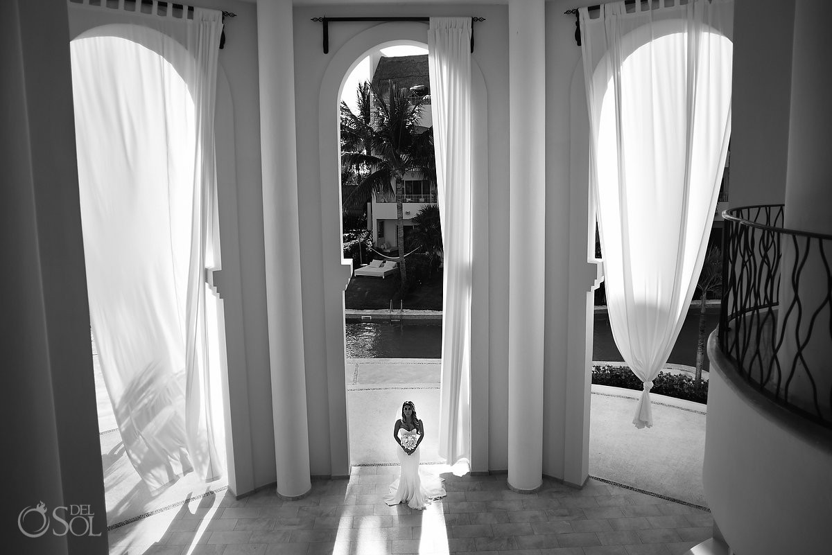 Wedding Excellence Riviera Cancun bridal portrait Wedding photographer