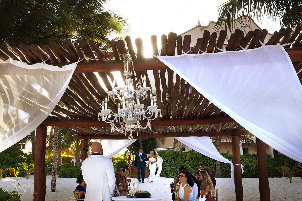 Excellence Riviera Cancun Wedding ceremony on the beach