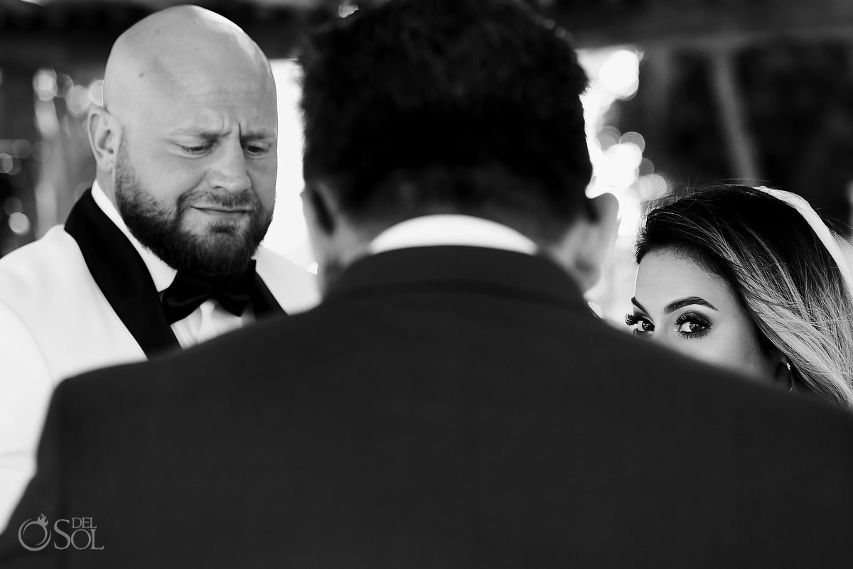Excellence Riviera Cancun wedding groom crying