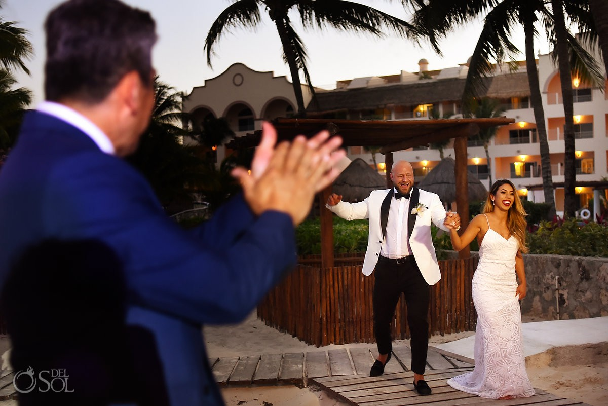 Excellence Riviera Cancun weddings beach reception