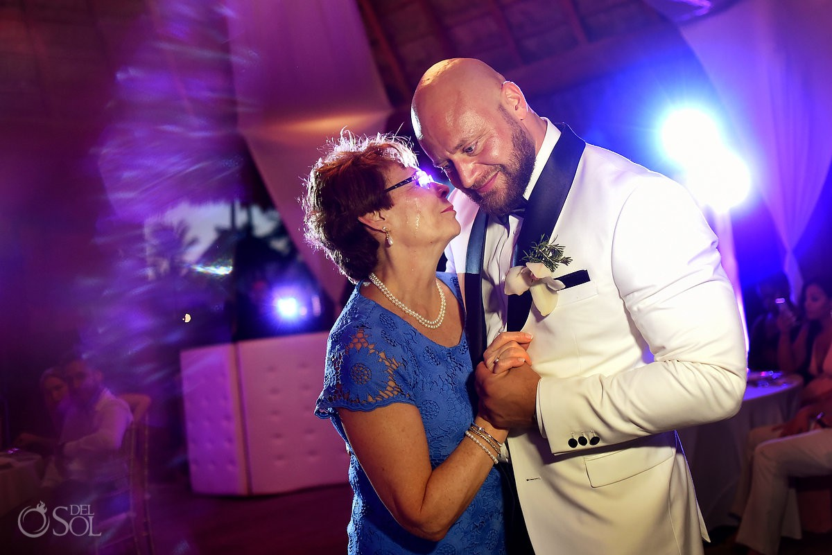 Mother of the groom dancing Excellence Riviera Cancun Wedding
