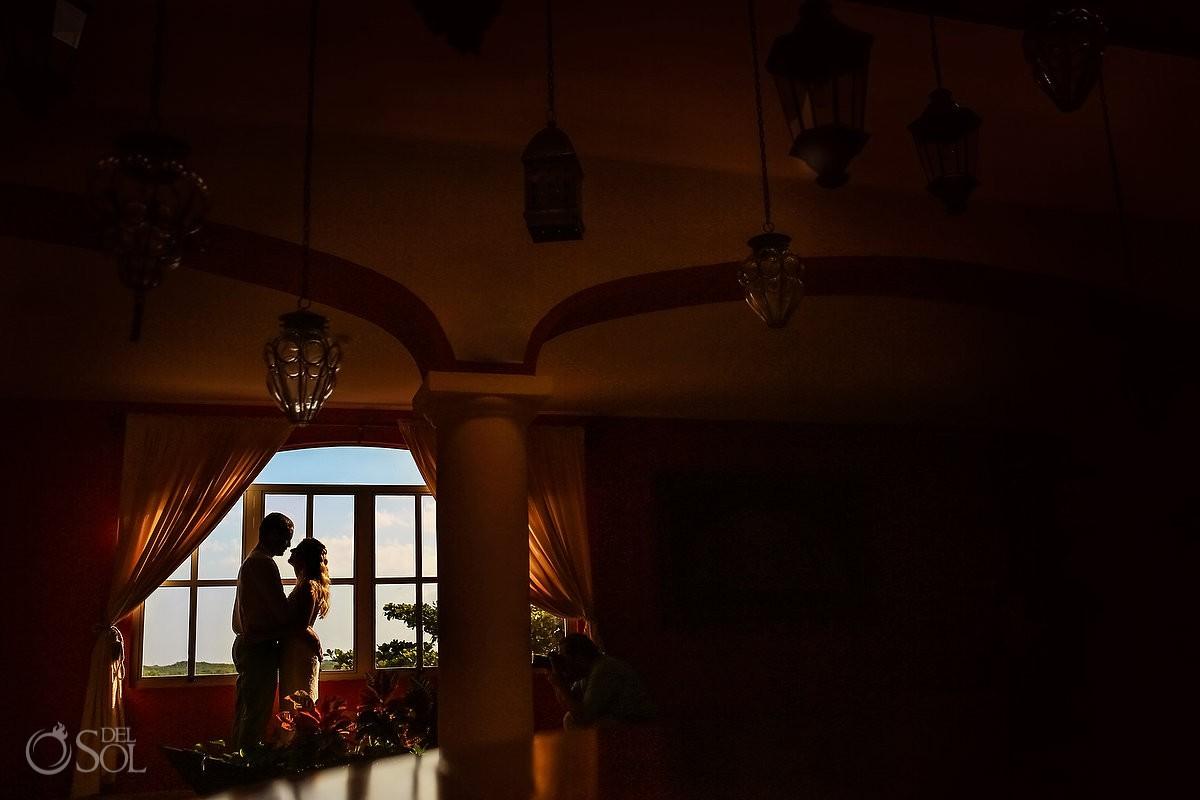 Secrets Capri Weddings first look 5th Floor Lighting Lanterns