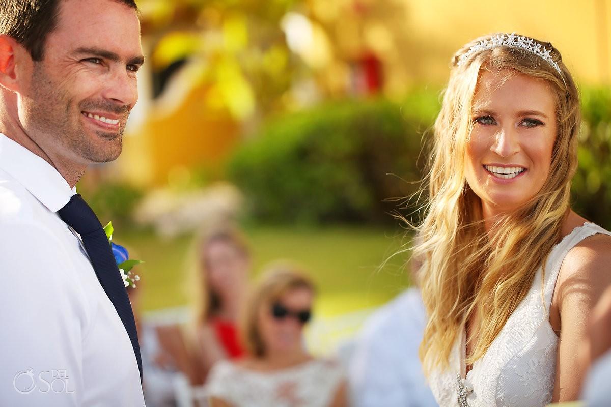 Secrets Capri Riviera Cancun weddings bride and groom garden ceremony