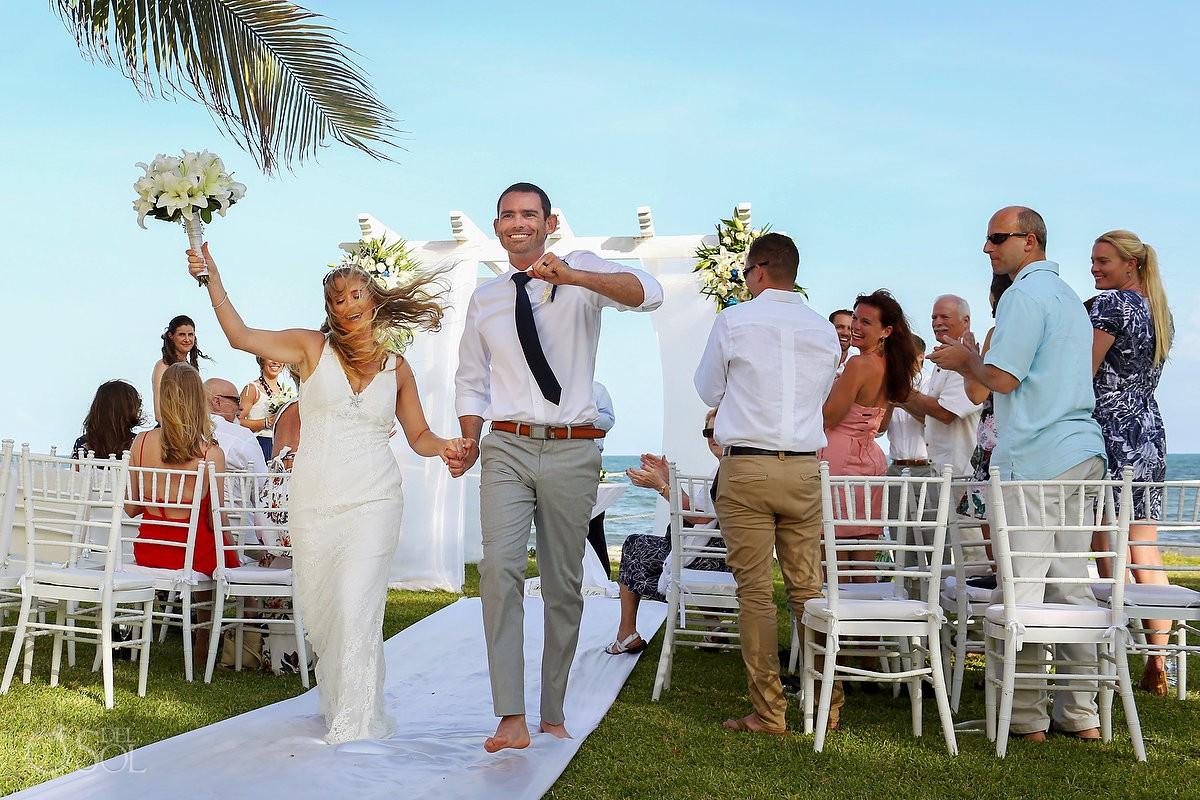 Playa del Carmen Destination wedding Secrets Capri Riviera Cancun garden ceremony exit