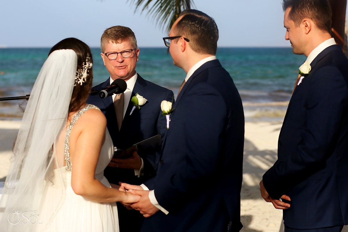 Father officiant Wedding Secrets Maroma Beach Riviera Cancun Mexico