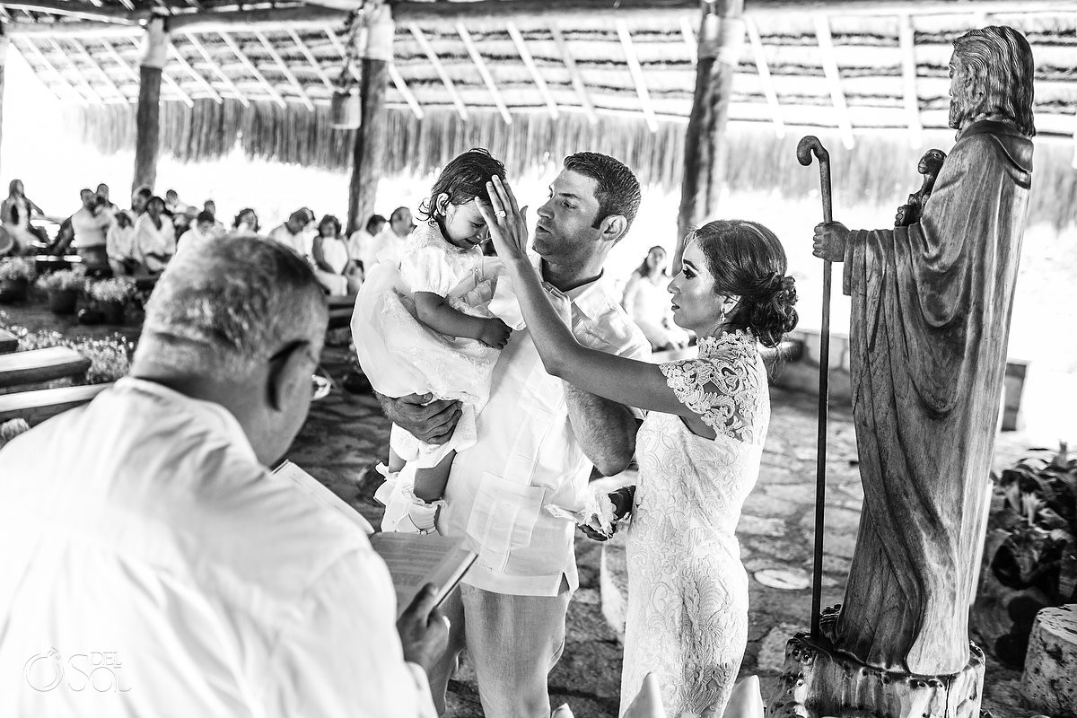 Xcaret Baptisms with small babies