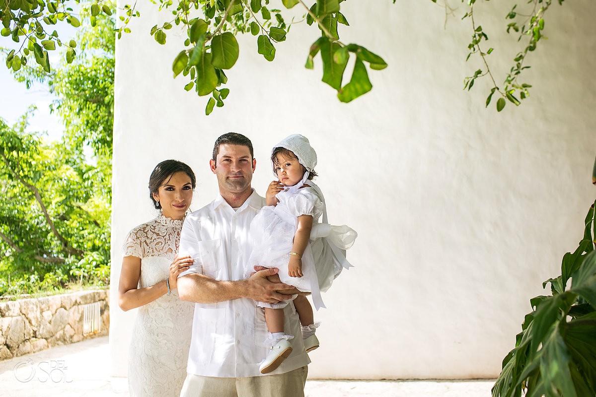 Xcaret park Baptism family