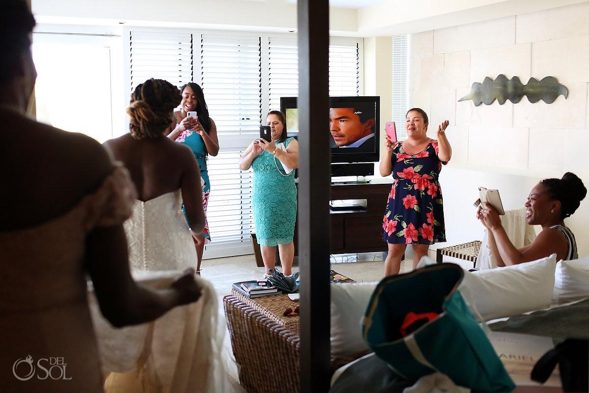 getting ready moments Blue Diamond Luxury Boutique Hotel Wedding Playa del Carmen Mexico