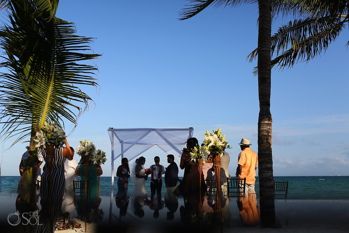 Blue Diamond beach wedding Playa del Carmen Mexico