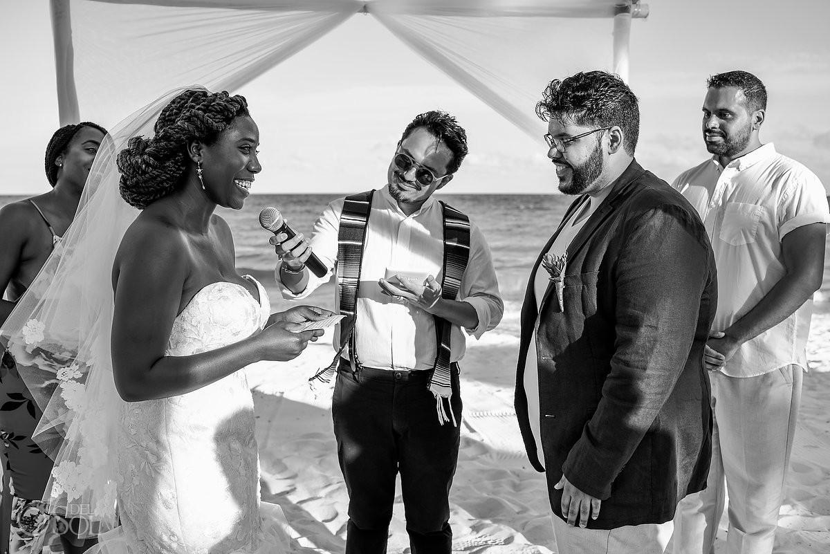 Blue Diamond Wedding Beach ceremony Playa del Carmen Mexico