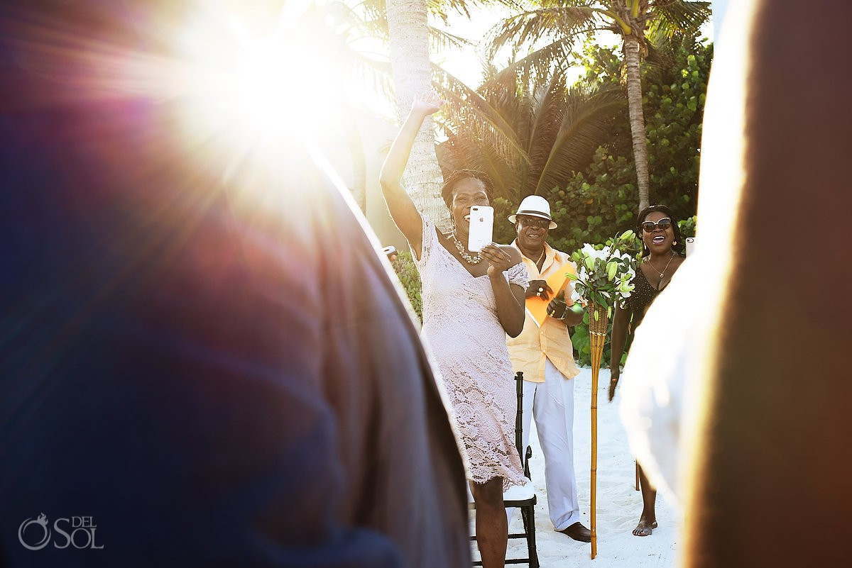 Ceremony family moments Blue Diamond Luxury Boutique Hotel Wedding Playa del Carmen Mexico