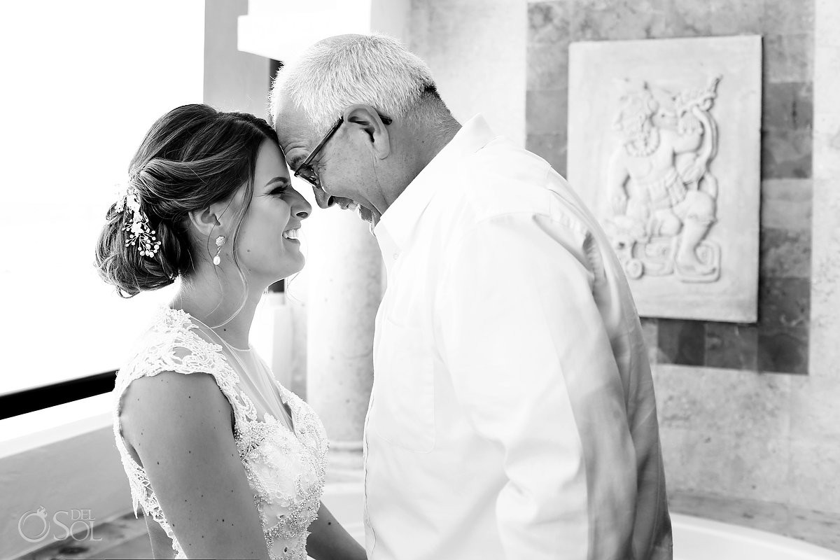 Father daughter moments Now Sapphire Wedding Riviera Cancun Riviera Maya Mexico