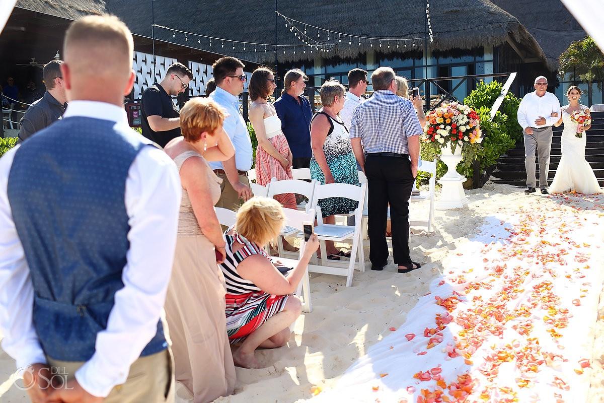 Now Sapphire Wedding Cancun Beach Riviera Maya Mexico