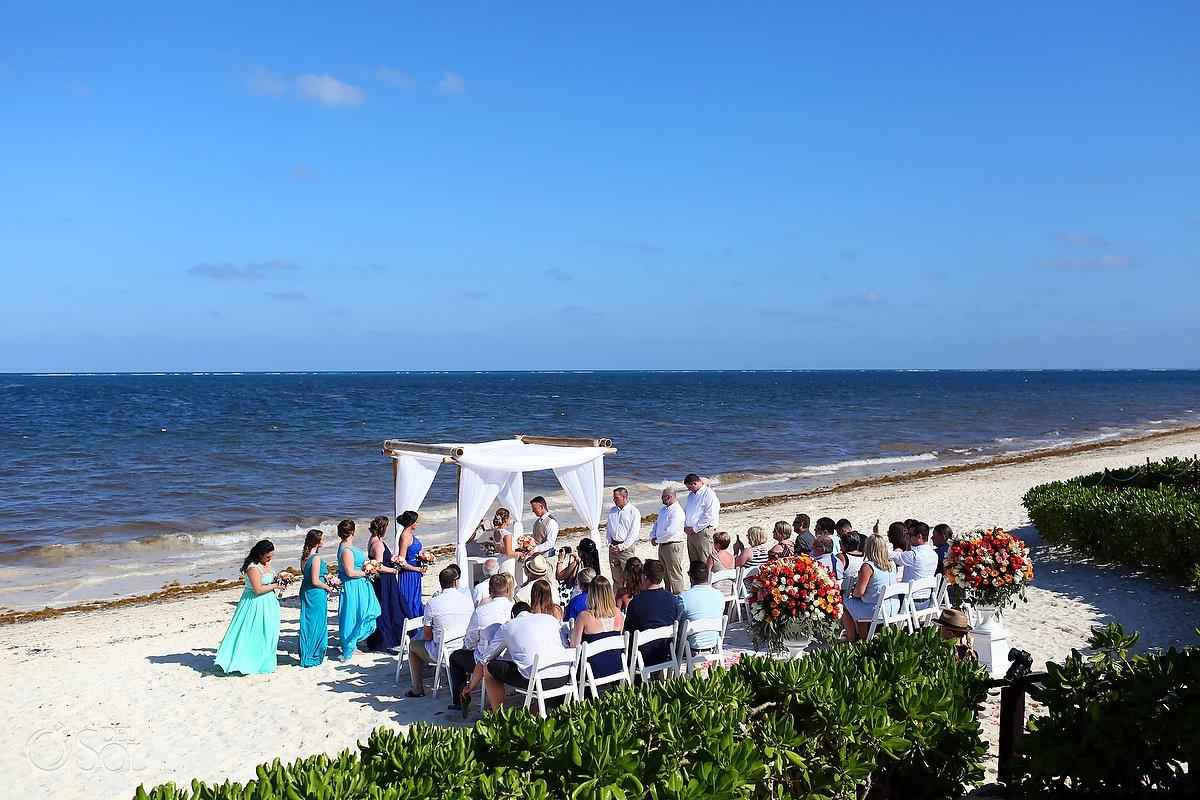 Now Sapphire Wedding Cancun Beach Mexico