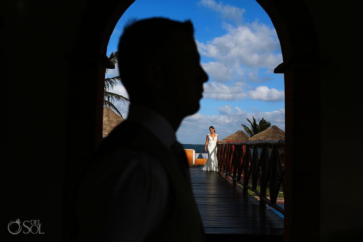 Now Sapphire Wedding Cancun Groom Portrait