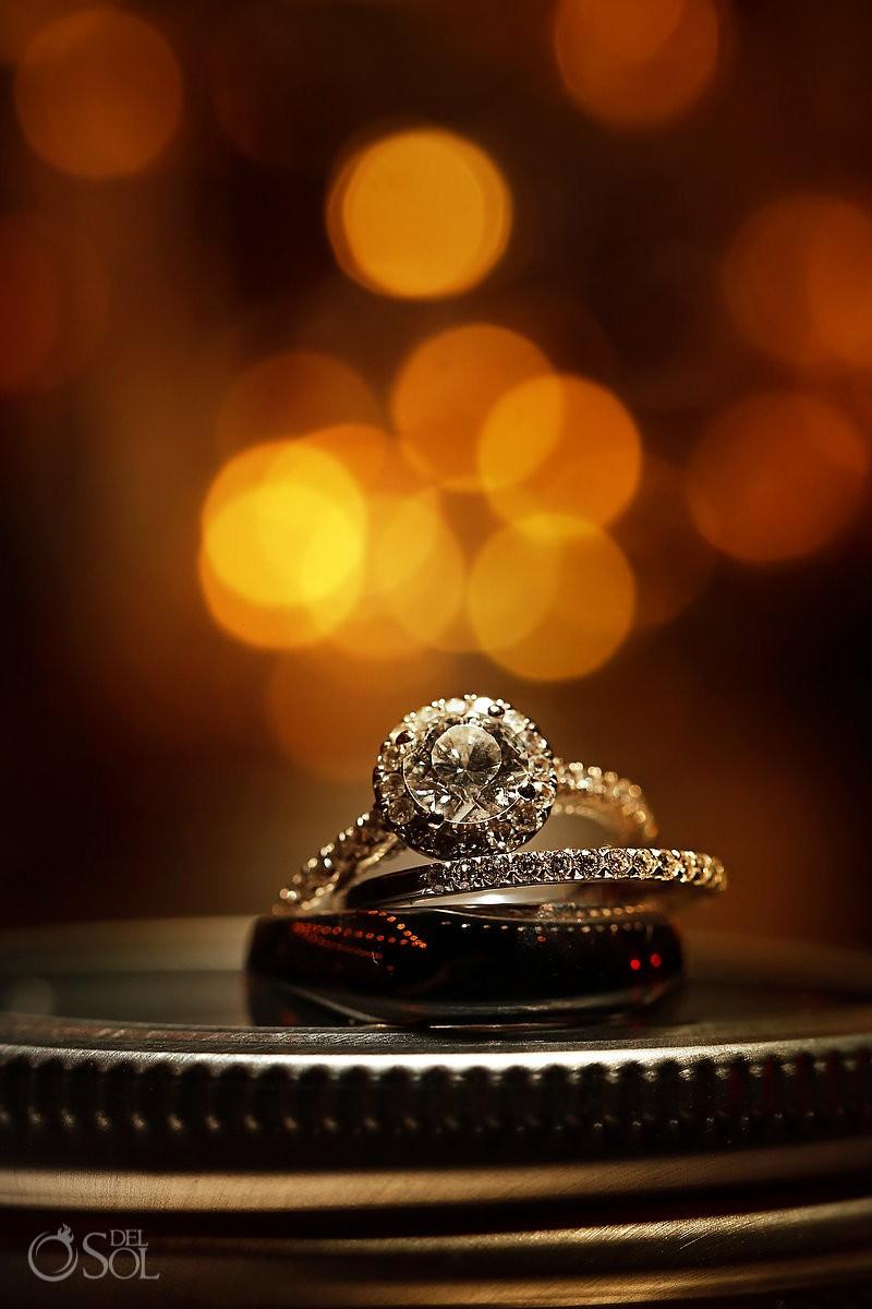 Now Sapphire Wedding Rings Cancun Riviera Maya Mexico