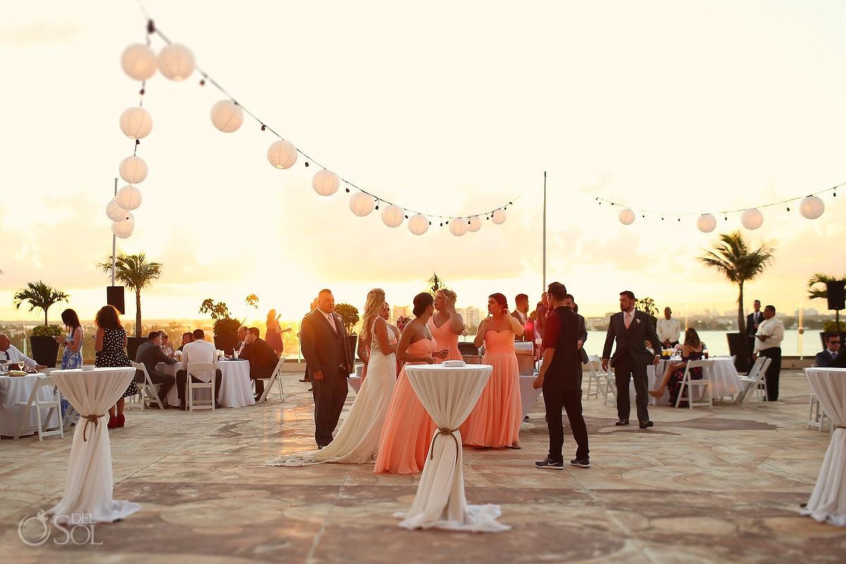 Cocktail hour Beach Palace Wedding Cancun Mexico
