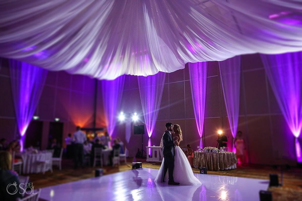 First dance ballroom Beach Palace Wedding Cancun Mexico