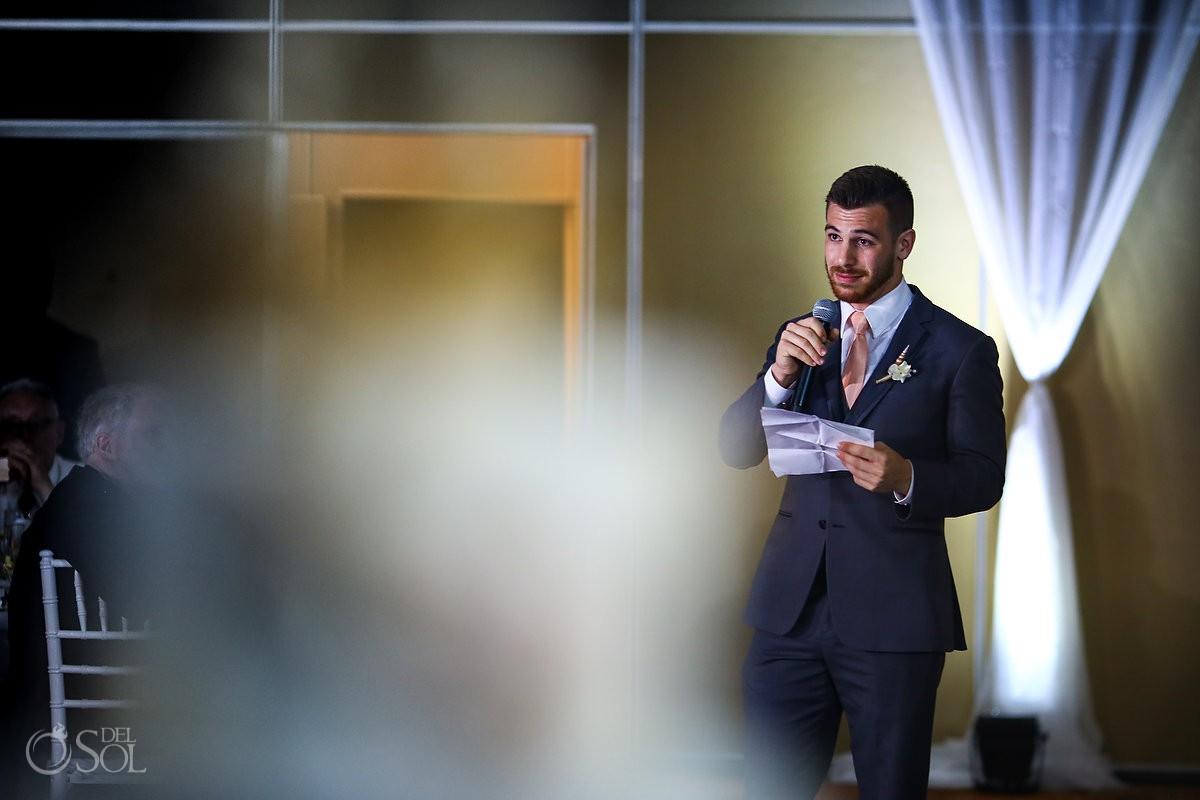 Beach Palace Wedding reception speeches Cancun Mexico