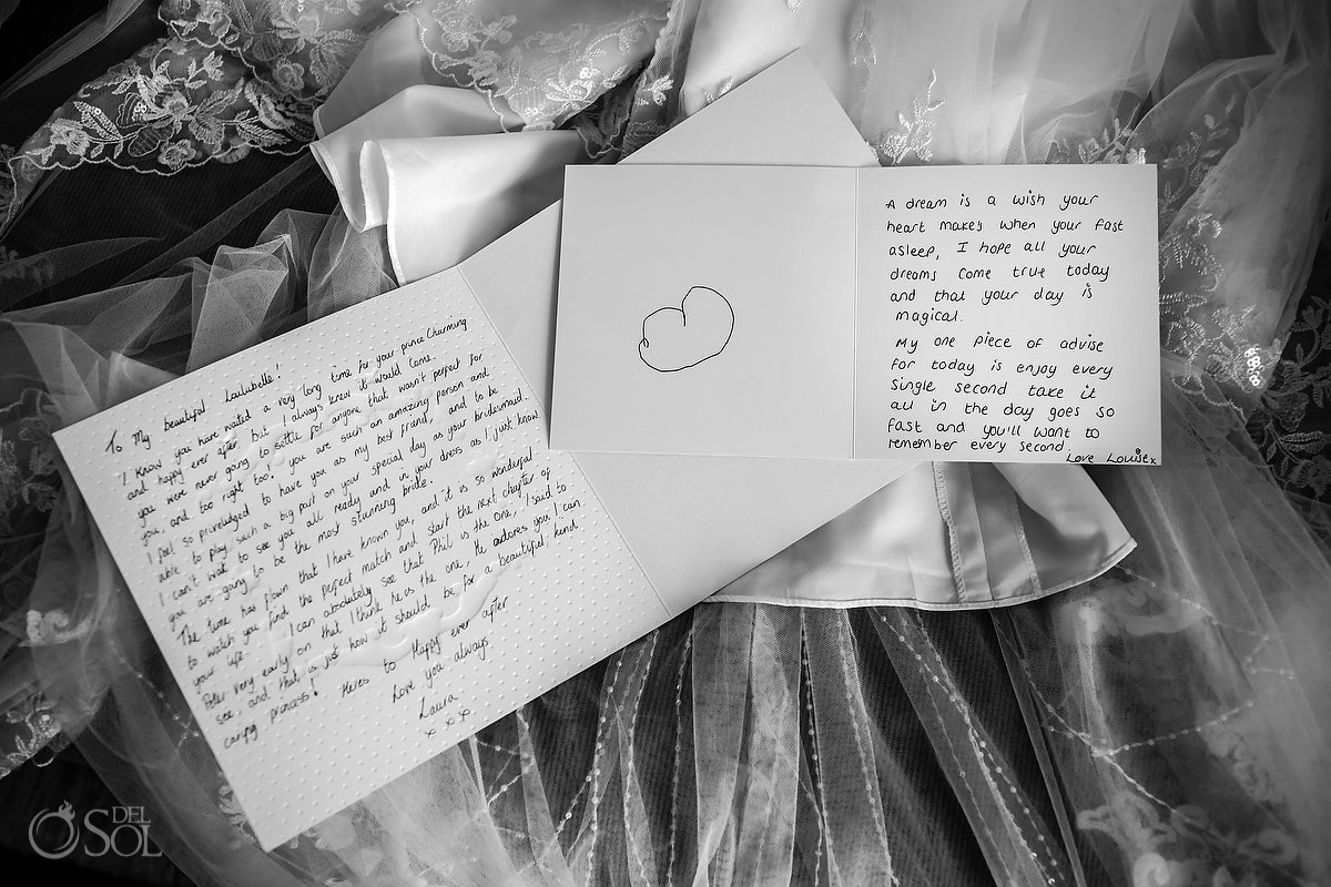 wedding day messages hand written notes