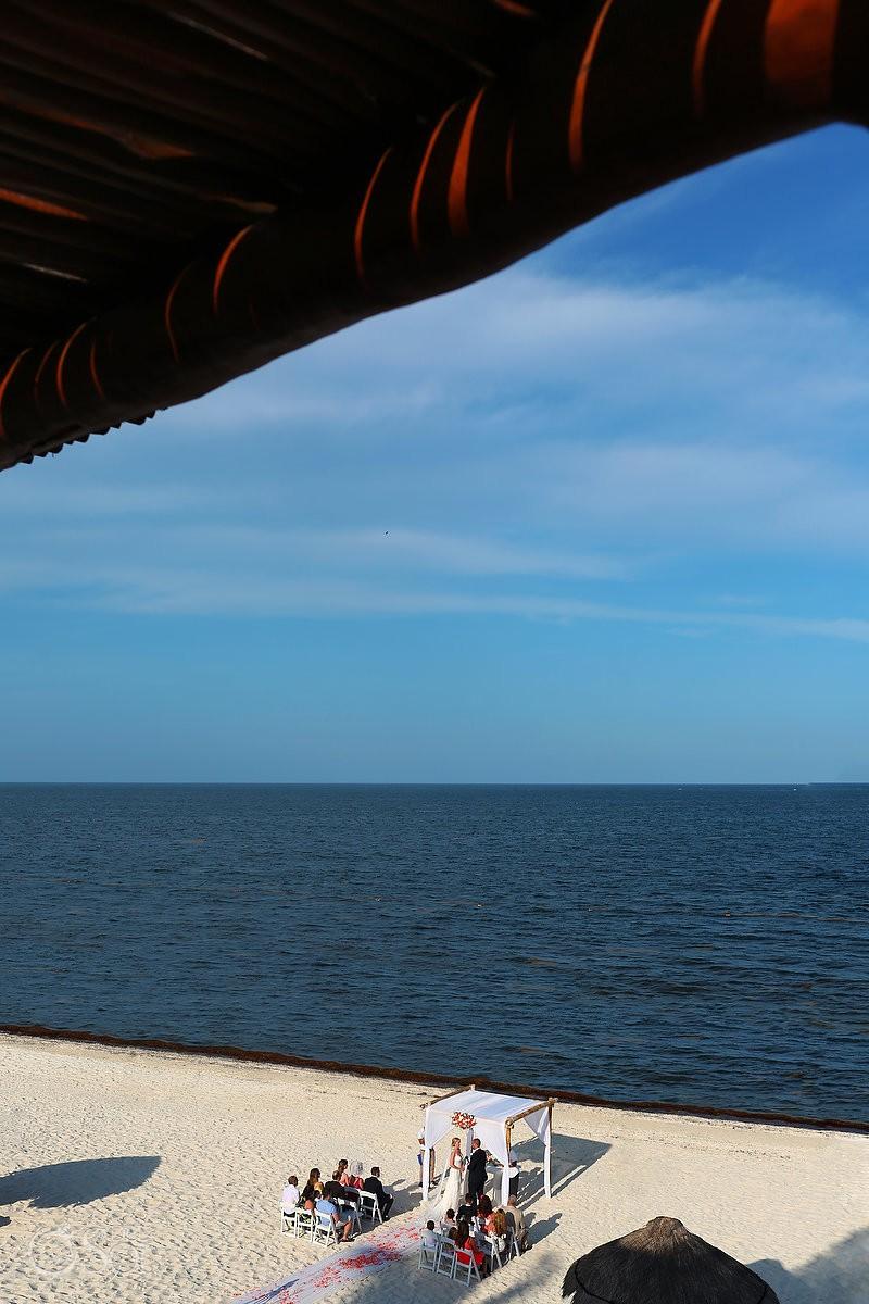 Now Shire Hidden Beach Wedding Photography Riviera Maya Mexico