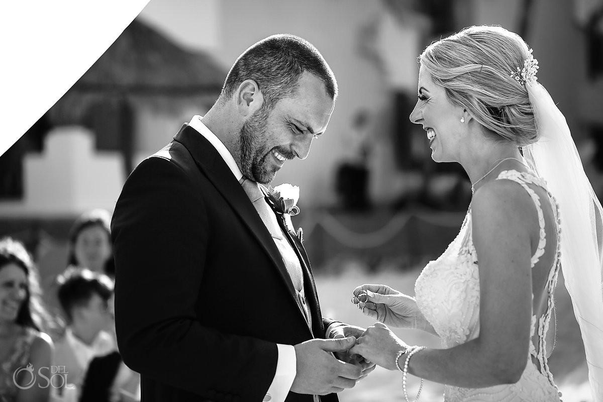 ring exchange Now Sapphire Hidden Beach Wedding Riviera Cancun Mexico