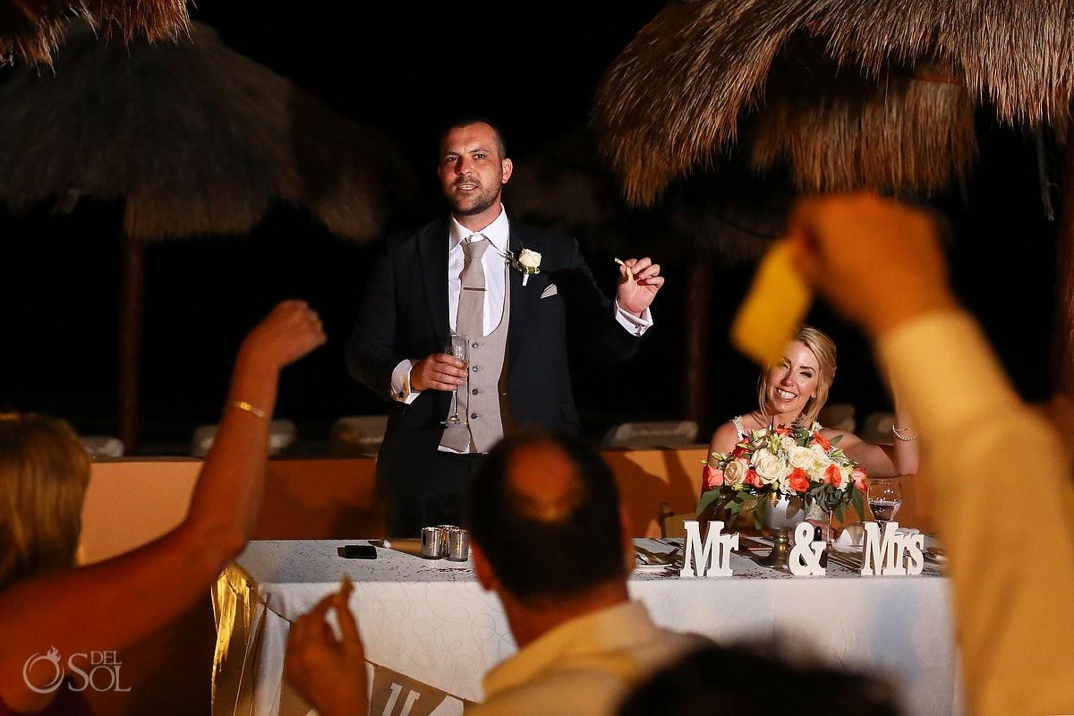 funny speech groom holding cheese cheesy beach terrace NOW Sapphire
