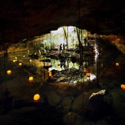 Cenote Elopement bride groom jungle cave Riviera maya Mexico