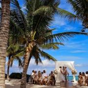 Caribbean Sea wedding ceremony Akumal Bay Beach and Wellness Resort