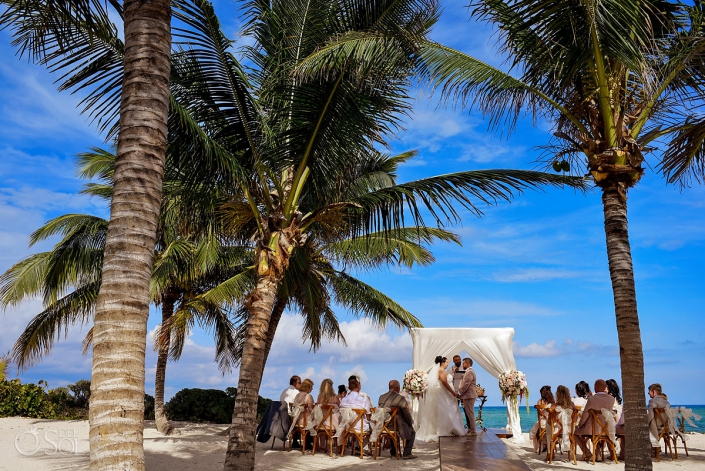 Caribbean Sea wedding ceremony Akumal Bay Beach and Wellness Resort