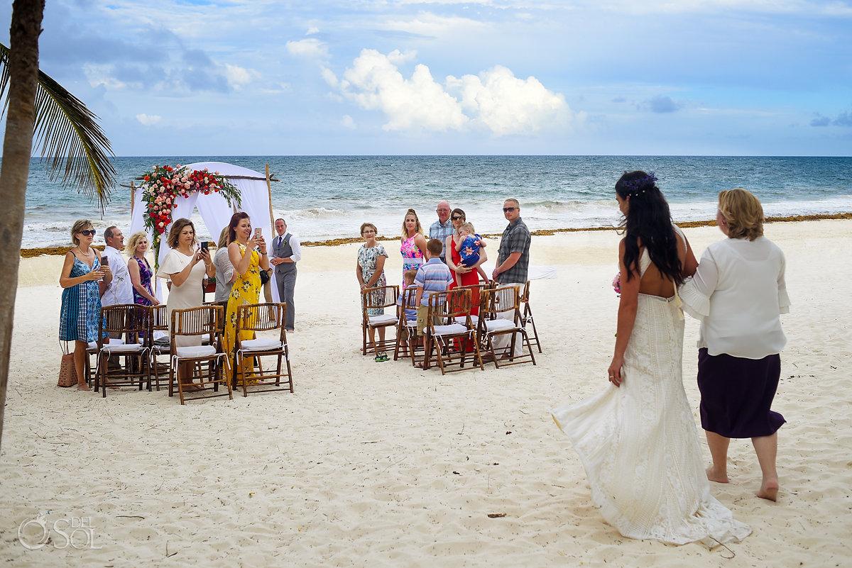 first look Casa Malca beach Wedding