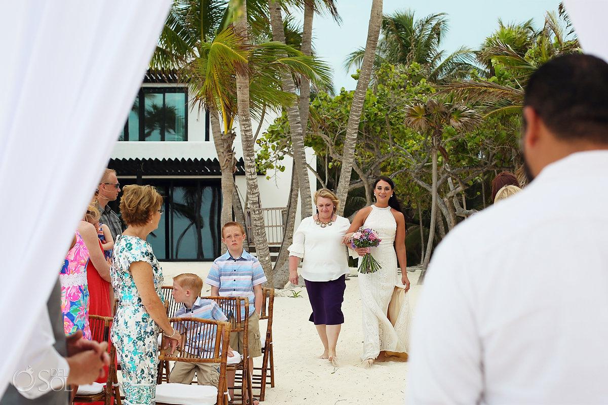 bride entrance Casa Malca beach Wedding