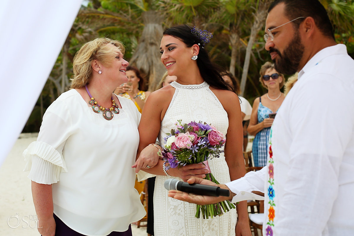 mother of the bride sweet moment Casa Malca Tulum Wedding