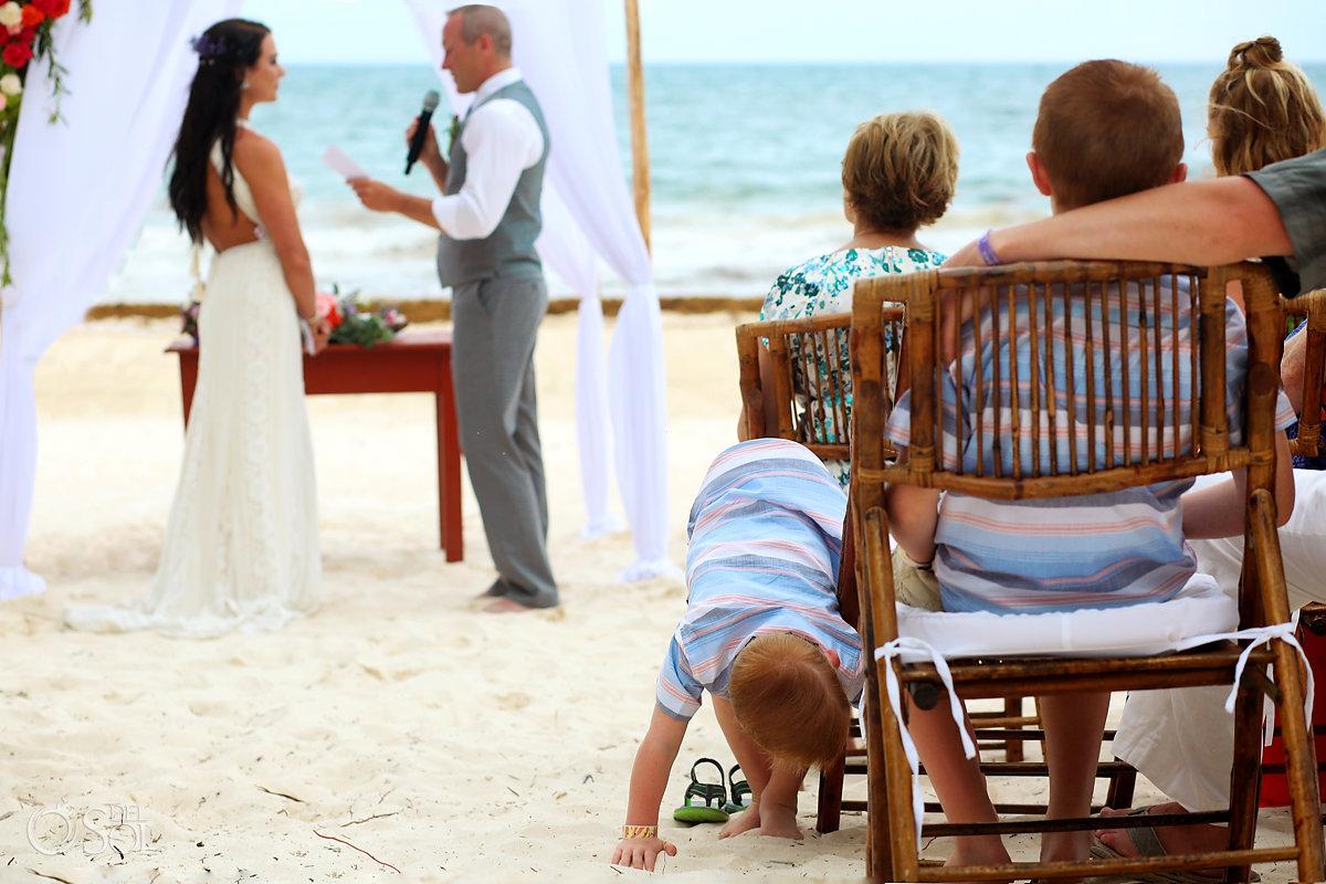 kids will be kids Casa Malca Tulum Wedding