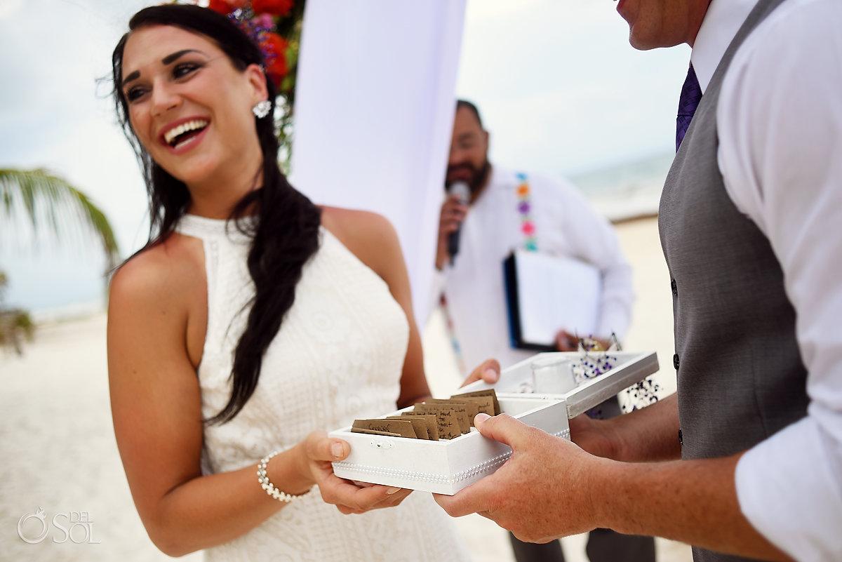 unity ceremony ideas box of wishes Casa Malca Tulum Wedding