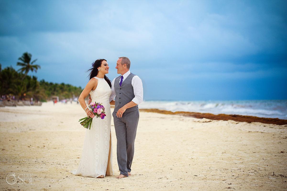 destination wedding beach portraits Casa Malca Tulum
