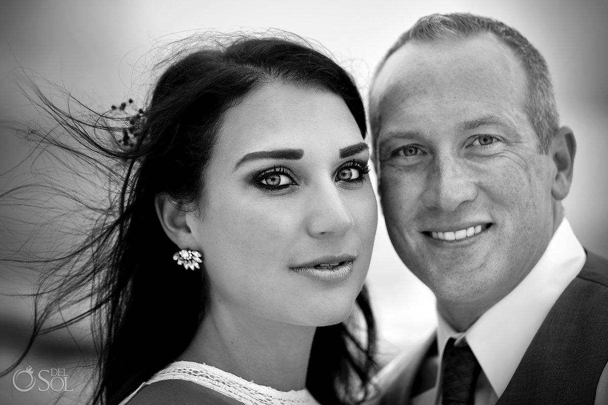 black and white beautiful bride's eyes Casa Malca Tulum Wedding