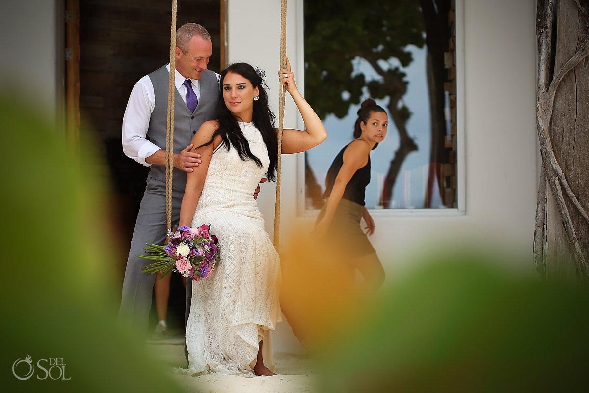 photobomb funny wedding photo Casa Malca Tulum Wedding