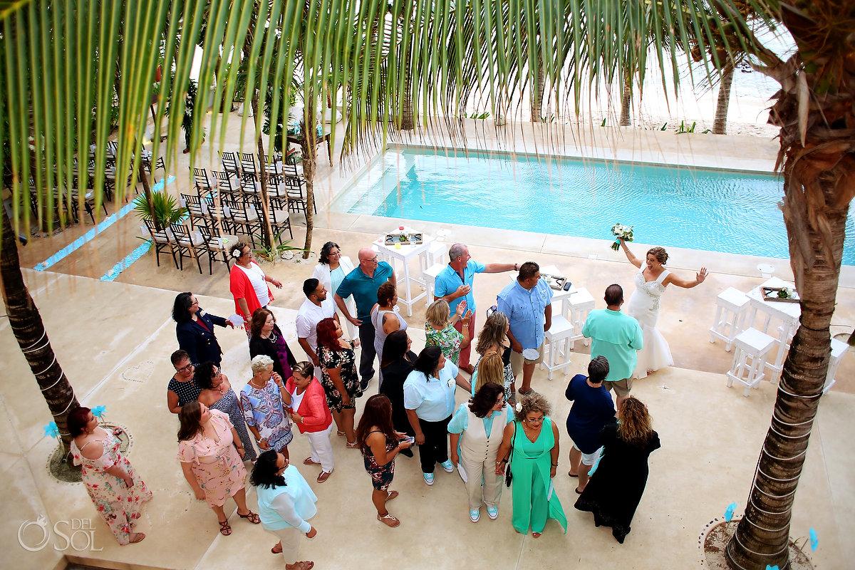 Hacienda Corazon poolside wedding