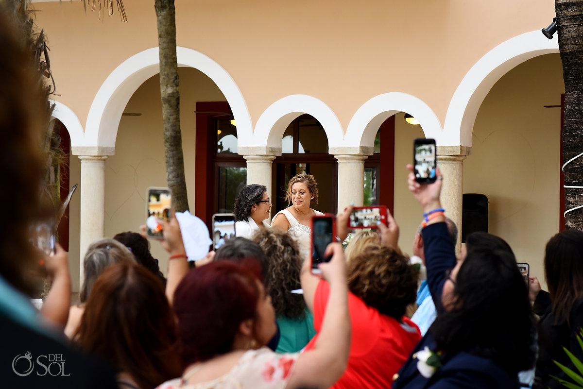 Hacienda Corazon lgbt wedding ceremony entrance