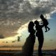 Mahekal family photos sunset silhouette Playa del Carmen Mexico #travelforlove