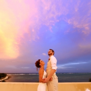 destination wedding sunset bride groom portrait Villa Orquidea Tankah Tulum Boutique Wedding