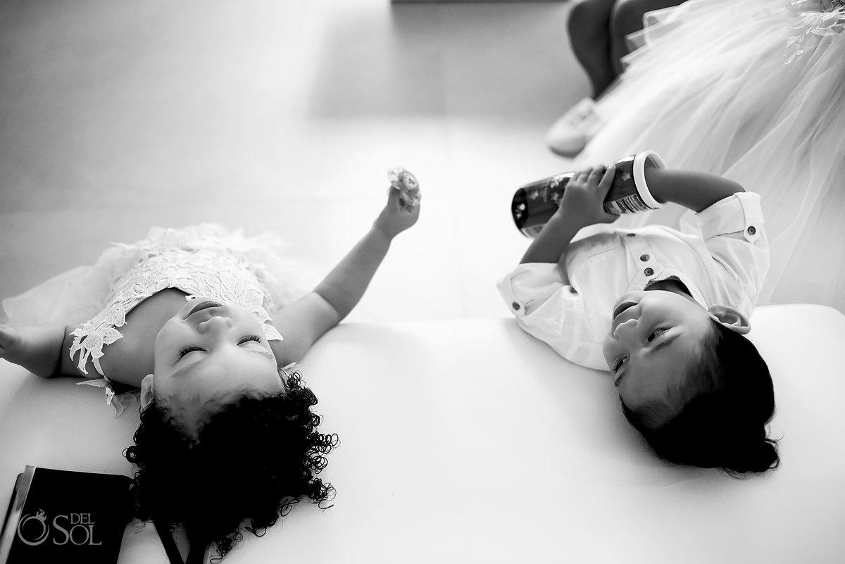 Black White Cute Documentary Kids Portrait Azul Fives Wedding