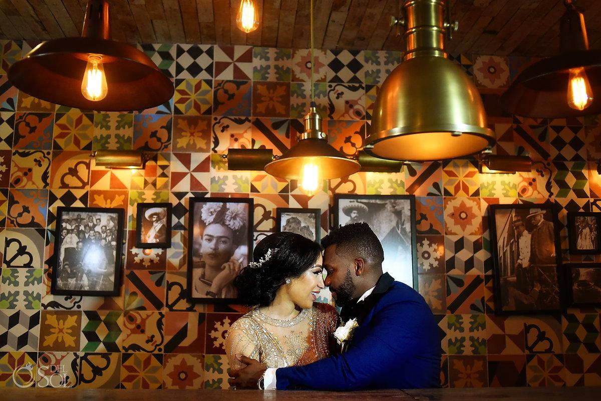 Newlyweds Mexico Wedding Destination Azul Fives Playa del Carmen