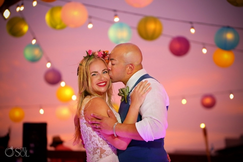 perfect sunset portrait Destination wedding Royalton Riviera Cancun