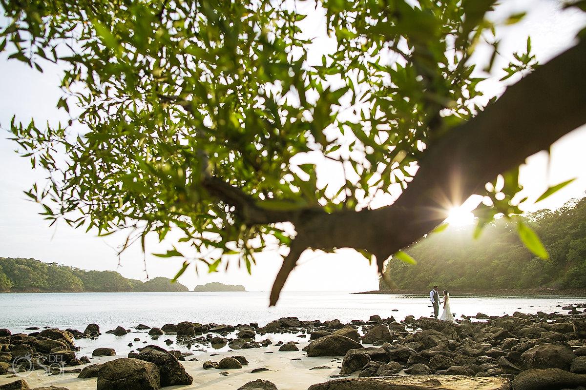 Dreams Las Mareas Wedding photos on the beach