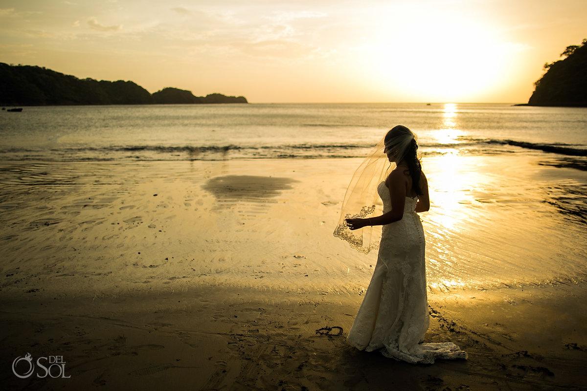 Dreams Las Mareas Bride at Sunset